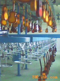 四弦吉他静电喷涂